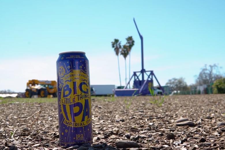 ビール樽を地上130メートル超まで打ち上げる世界新記録を樹立