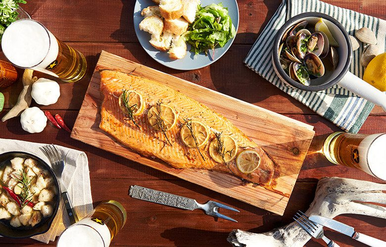 05-CEDER PLANK SALMON|Kitchen by SAPPORO OVER QUALITY